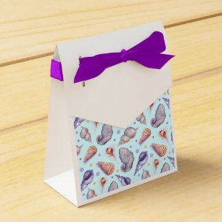 Shells, lake, illustration favor box