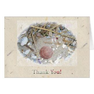 Shells on Beach Thank You Card