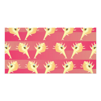 Shells pattern personalized photo card