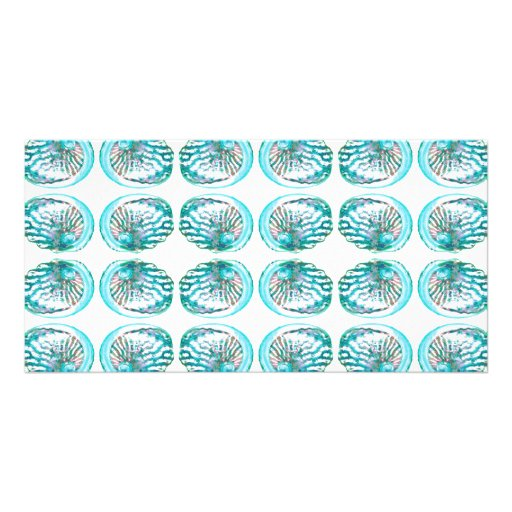 Shells Pattern. Personalized Photo Card