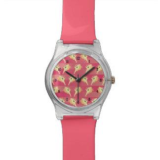 Shells pattern wrist watch
