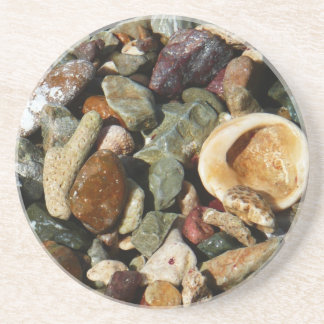 Shells, Rocks and Coral Beach Nature Theme Beverage Coasters