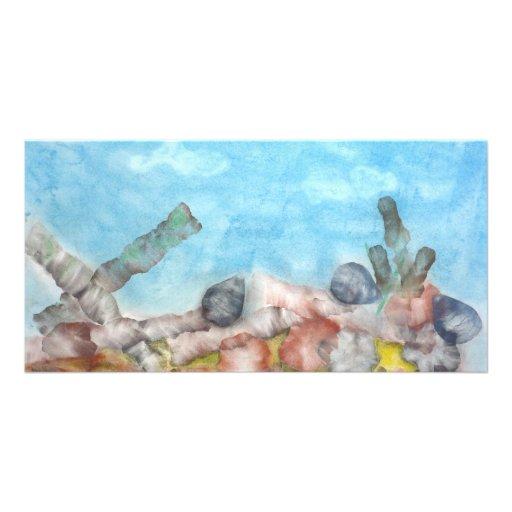 Shells Under The Sea. Custom Photo Card