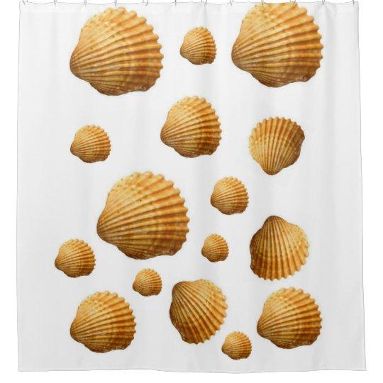 Shells white showercurtain