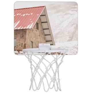 Shelter at Chimborazo Mountain in Ecuador Mini Basketball Hoop