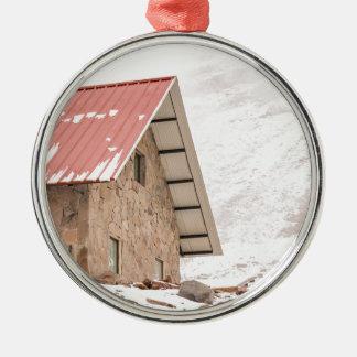 Shelter at Chimborazo Mountain in Ecuador Silver-Colored Round Ornament