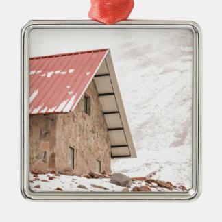 Shelter at Chimborazo Mountain in Ecuador Silver-Colored Square Ornament
