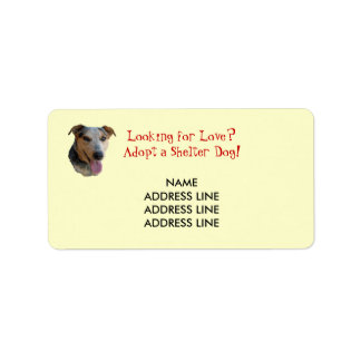 Shelter Dog Adoption - Western Return Address