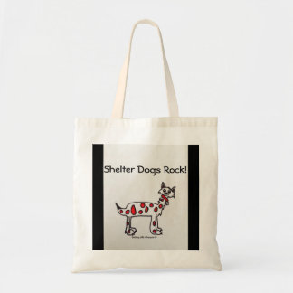 """""""Shelter Dogs Rock"""" Tote Bag"""