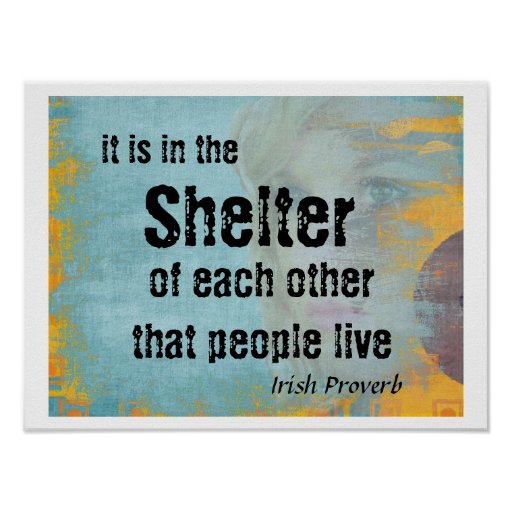 Shelter of each other poster