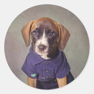 Shelter Pets Project - Rhett Round Sticker