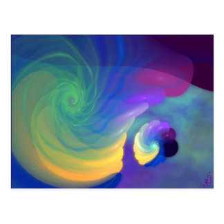 Sheltered Life Abstract Art Postcard