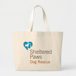Sheltered Paws Dog Rescue Large Tote Bag