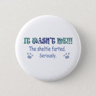 Sheltie 2 Inch Round Button