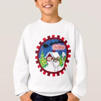 sheltie believe sweatshirt