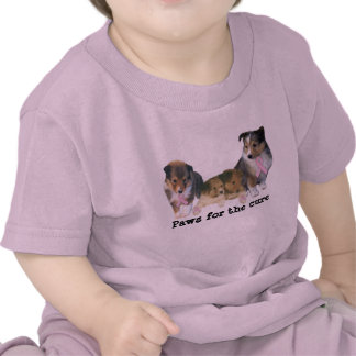 Sheltie Breast Cancer Toddler Unisex Shirt