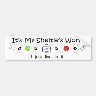 sheltie bumper sticker