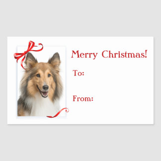 Sheltie Christmas Gift Stickers