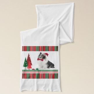 Sheltie Christmas Scarf