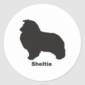 Sheltie Classic Round Sticker