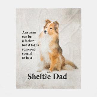 Sheltie Dad Fleece Blanket