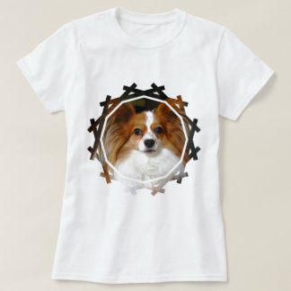 Sheltie Dog Ladies Fitted T-Shirt