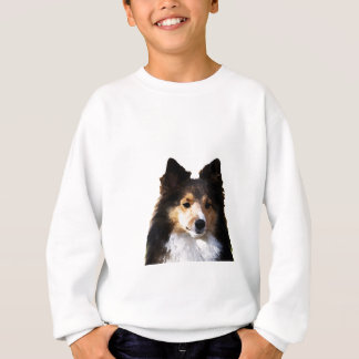 Sheltie Dog painting sketch Sweatshirt