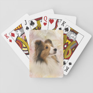 Sheltie face playing cards