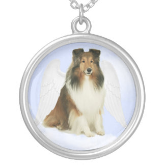 Sheltie Grace Silver Plated Necklace
