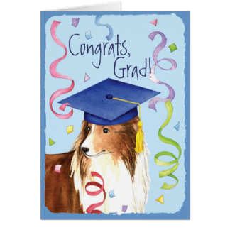 Sheltie Graduate Card