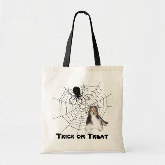 Sheltie Halloween Tote Bag