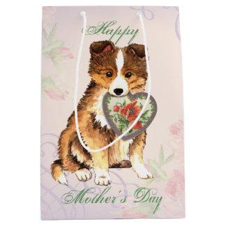 Sheltie Heart Mom Medium Gift Bag
