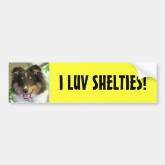 Sheltie, I LUV SHELTIES! Bumper Sticker