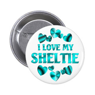 SHELTIE Love 2 Inch Round Button