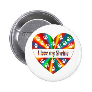 Sheltie Love 2 Inch Round Button