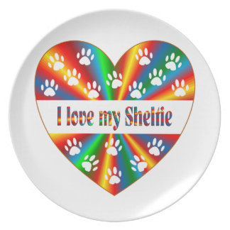 Sheltie Love Plate