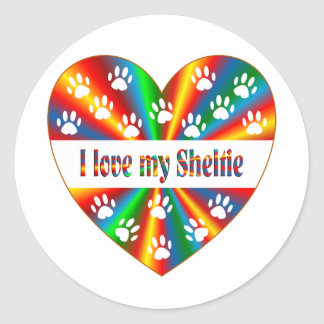 Sheltie Love Round Sticker