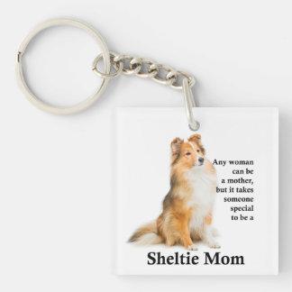 Sheltie Mom Keychain