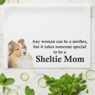 Sheltie Mom Kitchen Towel