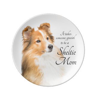 Sheltie Mom Porcelain Plate