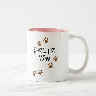 Sheltie Mom Two-Tone Coffee Mug