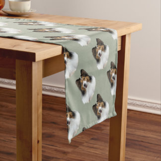 Sheltie Portait Short Table Runner