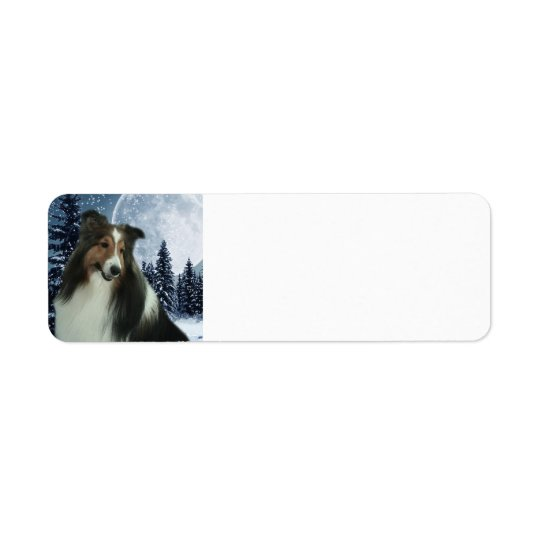 Sheltie Return Address Label