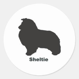 Sheltie Round Sticker