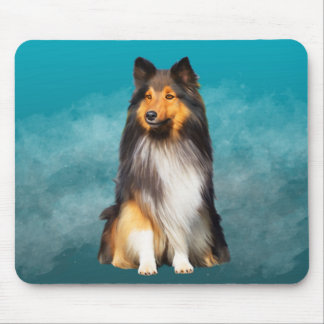 Sheltie Shetland Sheepdog Art Portrait Mouse Pad