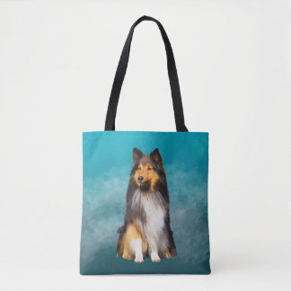 Sheltie Shetland Sheepdog Art Portrait Tote Bag