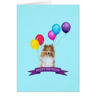 Sheltie Shetland Sheepdog Happy Birthday Card
