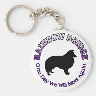 SHELTIE SHETLAND SHEEPDOG RAINBOW BRIDGE  KEYCHAIN