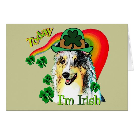 Sheltie St. Patricks Day Card