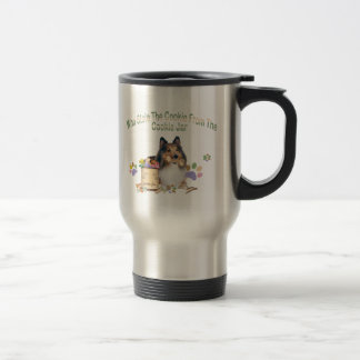 Sheltie stole cookieTravel Mugs